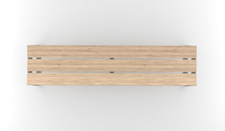 Bench INOBO royalty-free 3d model - Preview no. 3