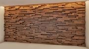 Lobby receptie houten muur 3d model