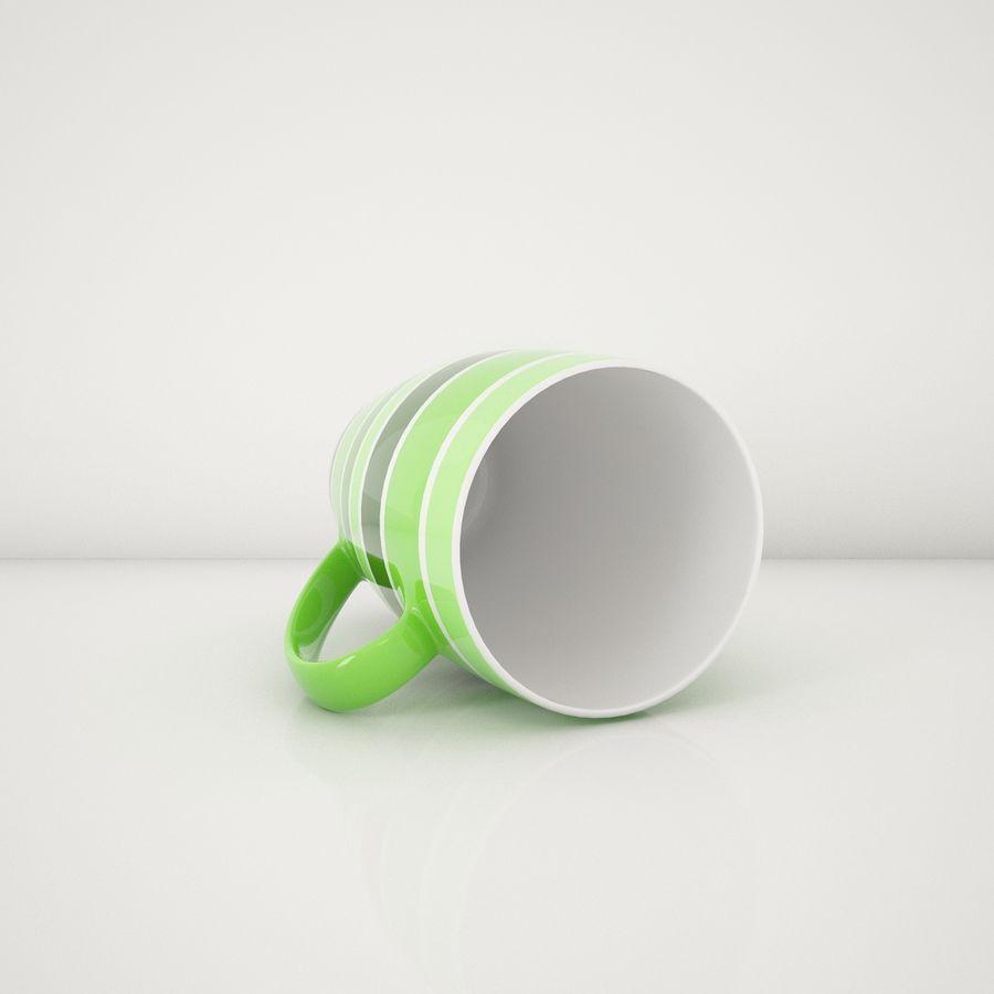 Kolorowe kubki royalty-free 3d model - Preview no. 11