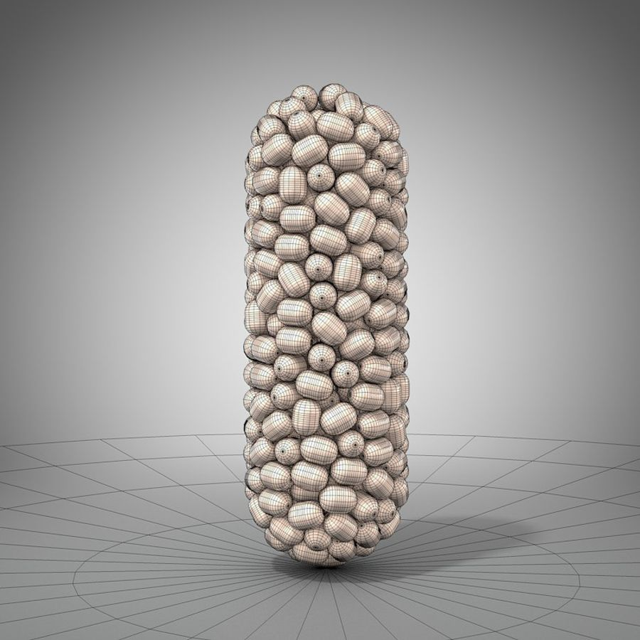capsule pill detailed royalty-free 3d model - Preview no. 5