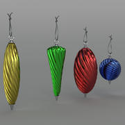 Christmas baubles Twisted 3d model