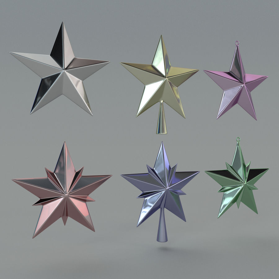Christmas Star royalty-free 3d model - Preview no. 8