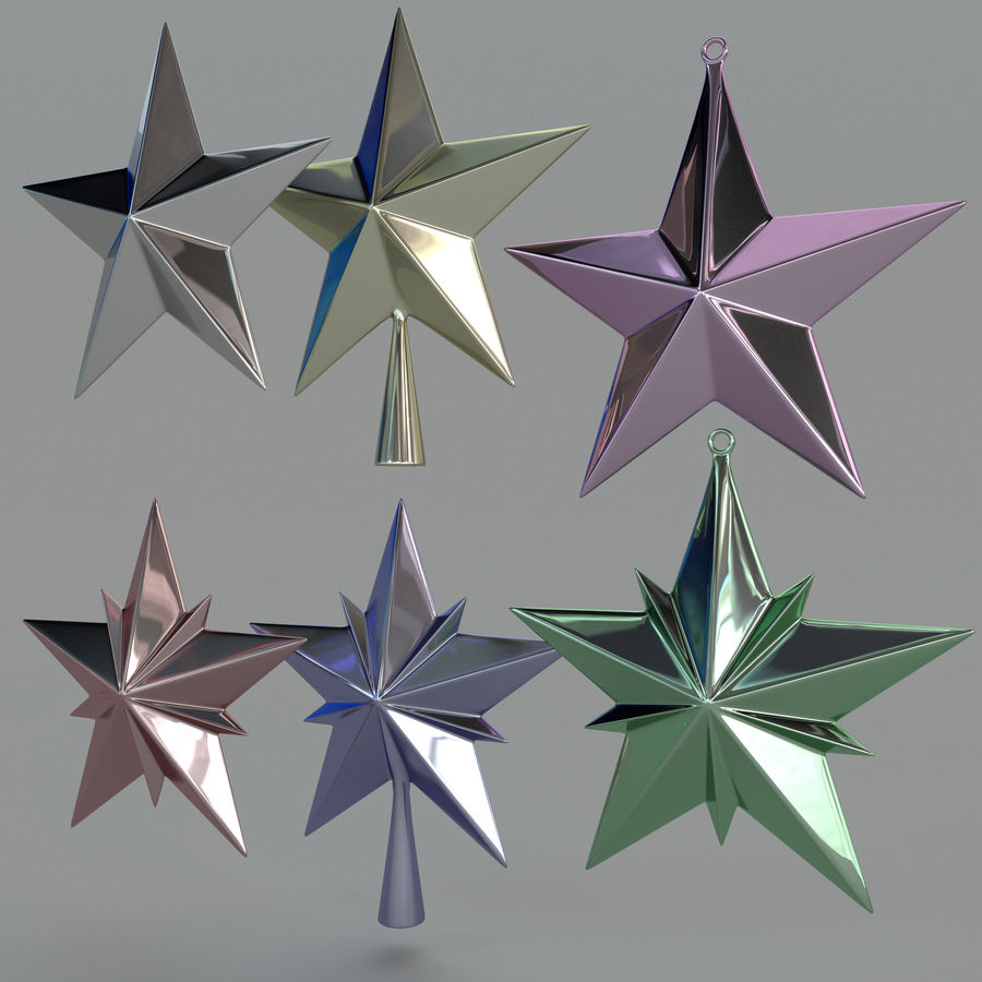 Christmas Star royalty-free 3d model - Preview no. 1