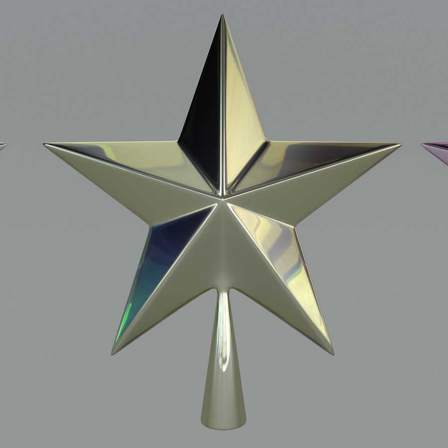 Christmas Star royalty-free 3d model - Preview no. 2