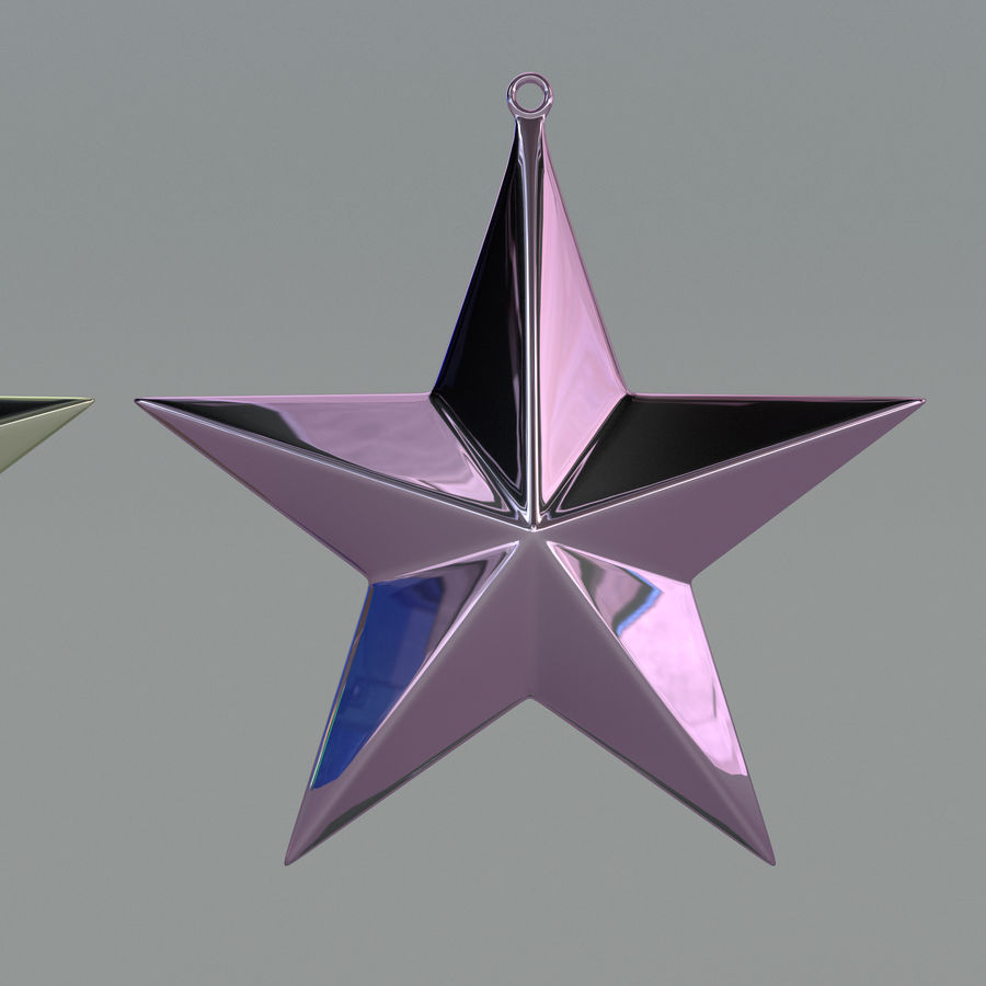 Christmas Star royalty-free 3d model - Preview no. 3