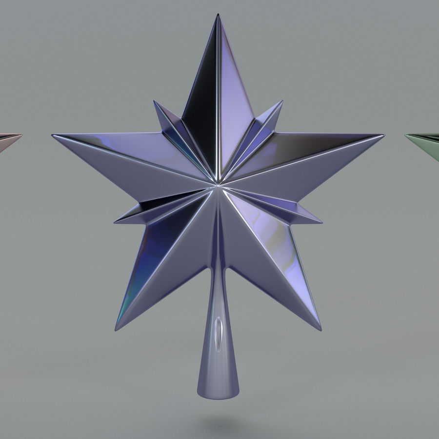 Christmas Star royalty-free 3d model - Preview no. 6