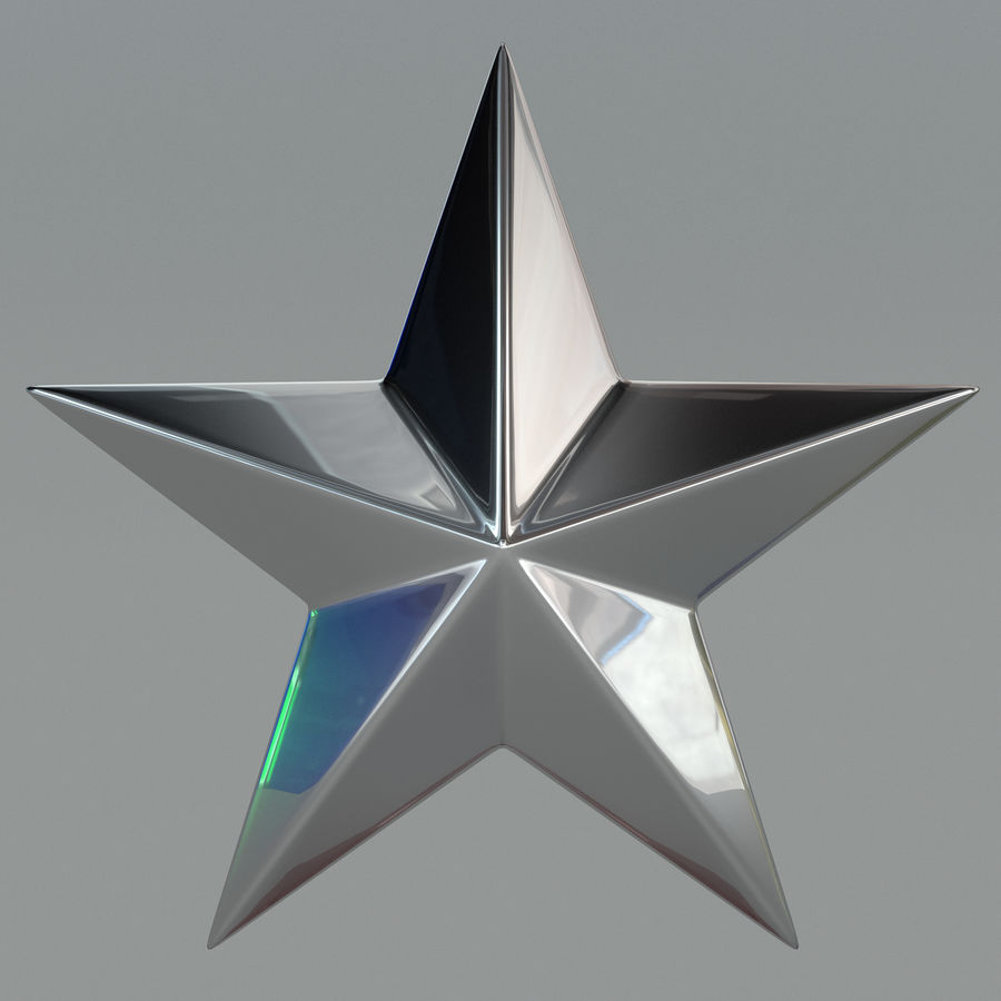 Christmas Star royalty-free 3d model - Preview no. 4