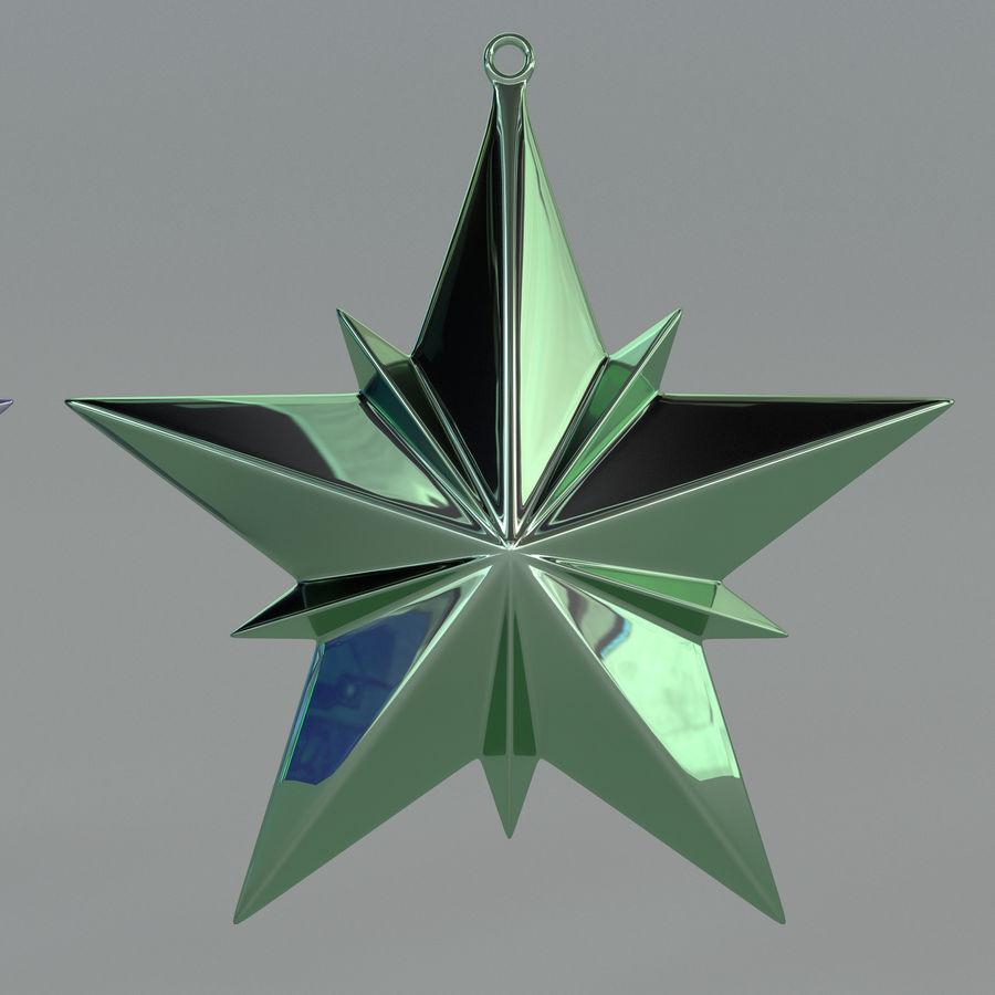 Christmas Star royalty-free 3d model - Preview no. 7