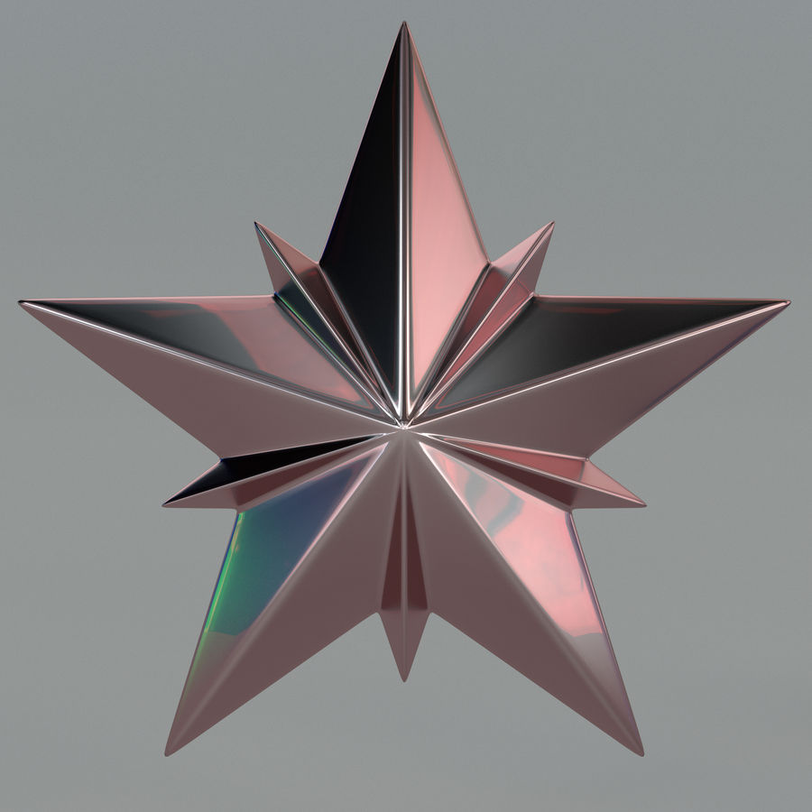 Christmas Star royalty-free 3d model - Preview no. 5