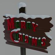 Рождественский знак украшения 3d model