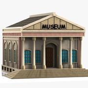 Cartoon Museum 3d model