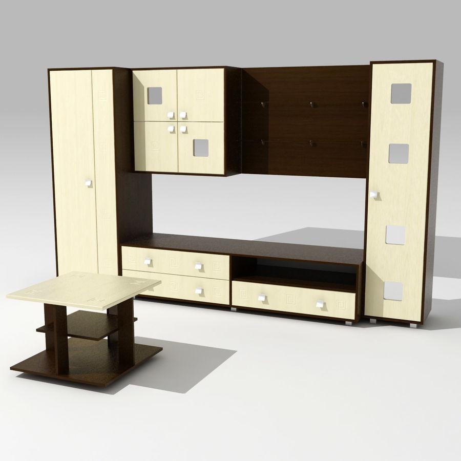 Muebles de sala 02 royalty-free modelo 3d - Preview no. 1