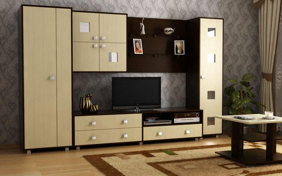 Muebles de sala 02 royalty-free modelo 3d - Preview no. 5