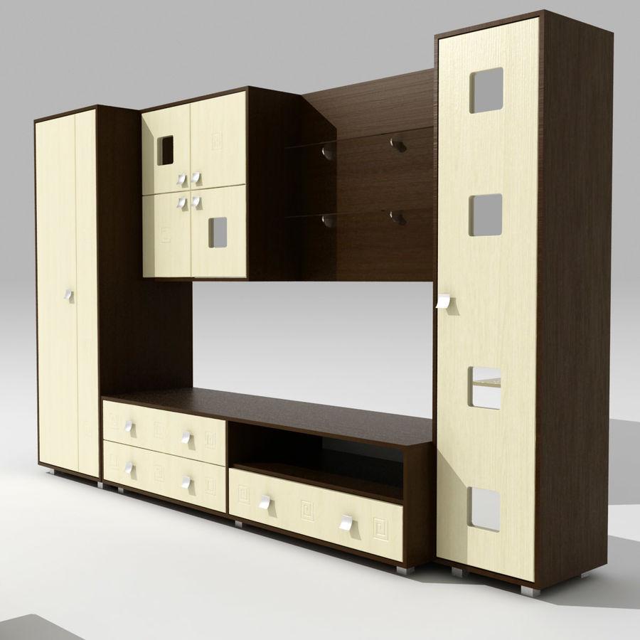 Muebles de sala 02 royalty-free modelo 3d - Preview no. 2