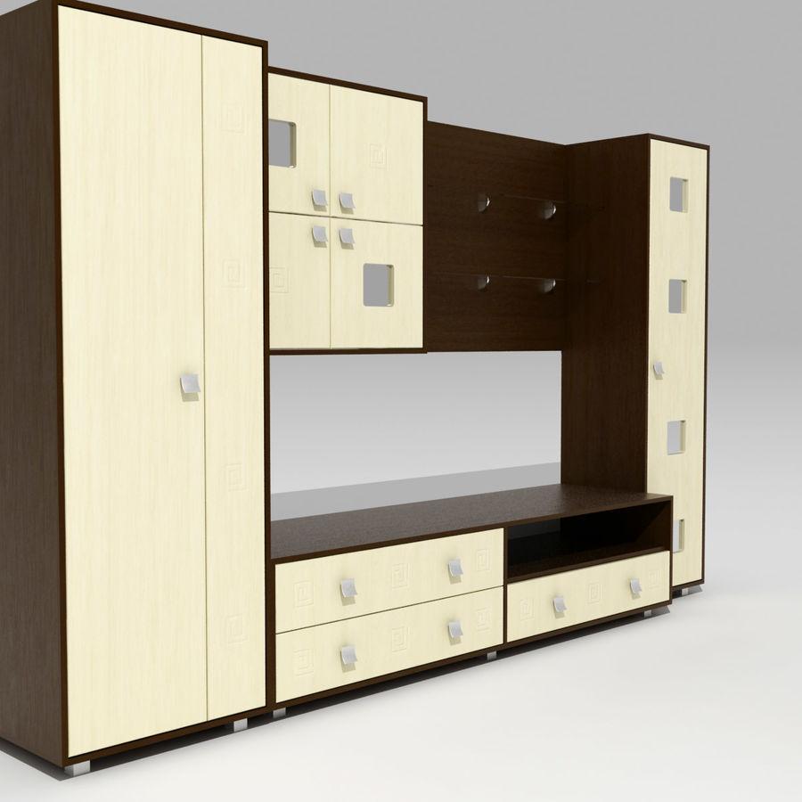 Muebles de sala 02 royalty-free modelo 3d - Preview no. 4