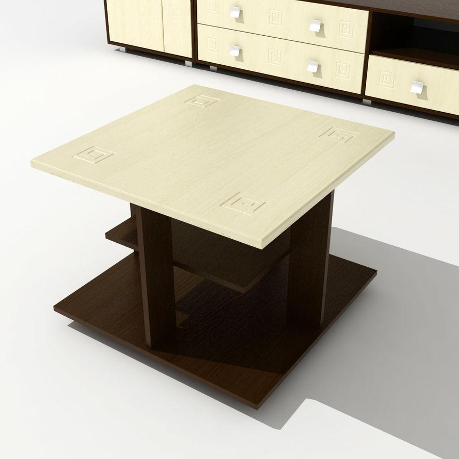 Muebles de sala 02 royalty-free modelo 3d - Preview no. 3