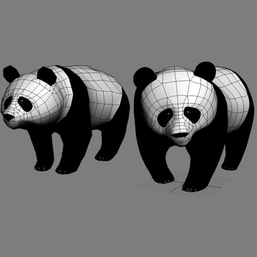 熊猫 royalty-free 3d model - Preview no. 3