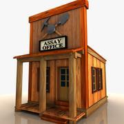 Cartoon Western Building 6 (Biuro testów) 3d model
