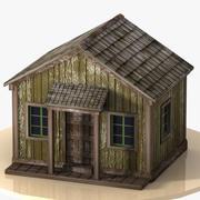 Antigua casa de madera modelo 3d