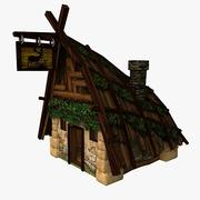 Forest hut (low poly) 3d model