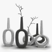 グローバルビューキーホール水平花瓶 3d model