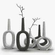 Global Views Keyhole Horizontal Vase 3d model