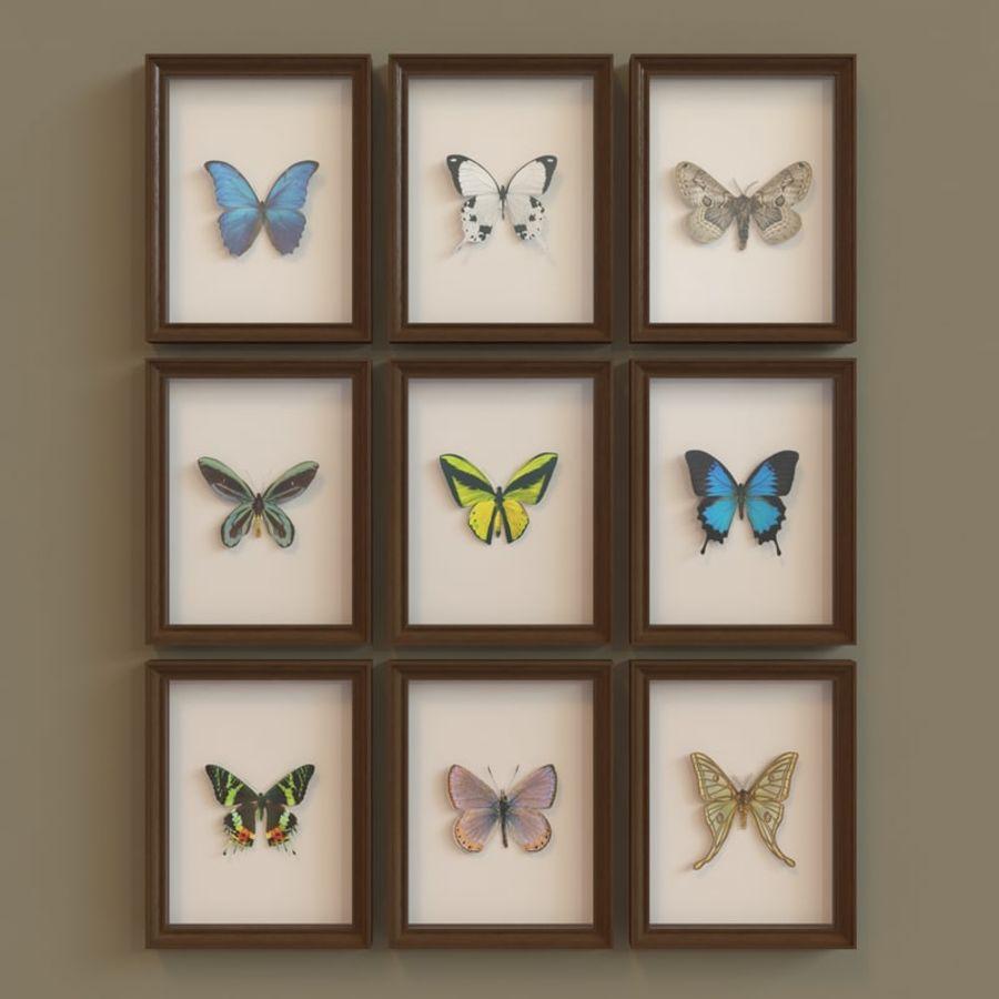 Decorazioni per interni - Butterfly incorniciata V2 royalty-free 3d model - Preview no. 2