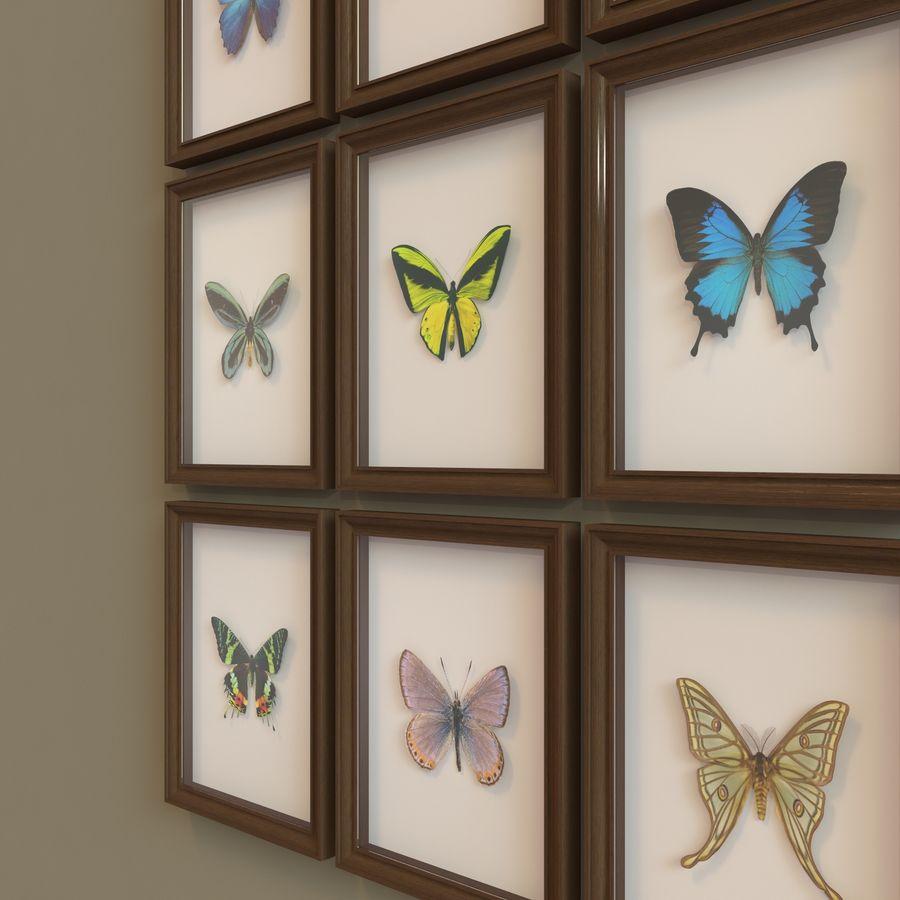 Decorazioni per interni - Butterfly incorniciata V2 royalty-free 3d model - Preview no. 3