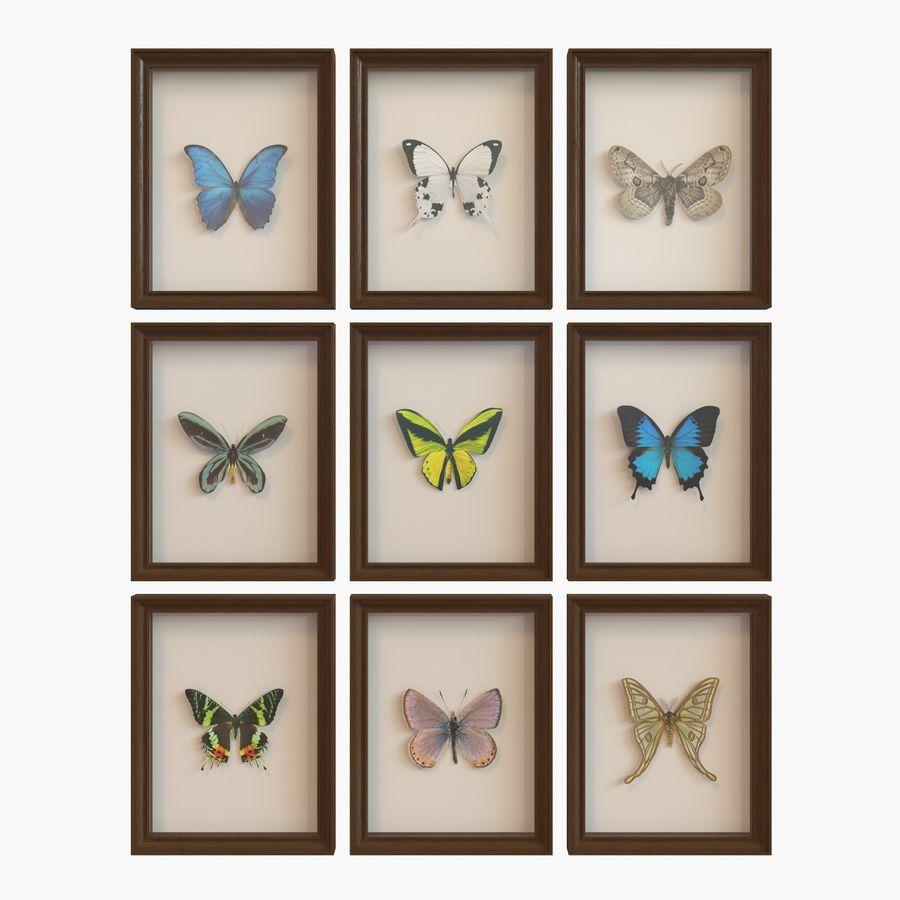 Decorazioni per interni - Butterfly incorniciata V2 royalty-free 3d model - Preview no. 1