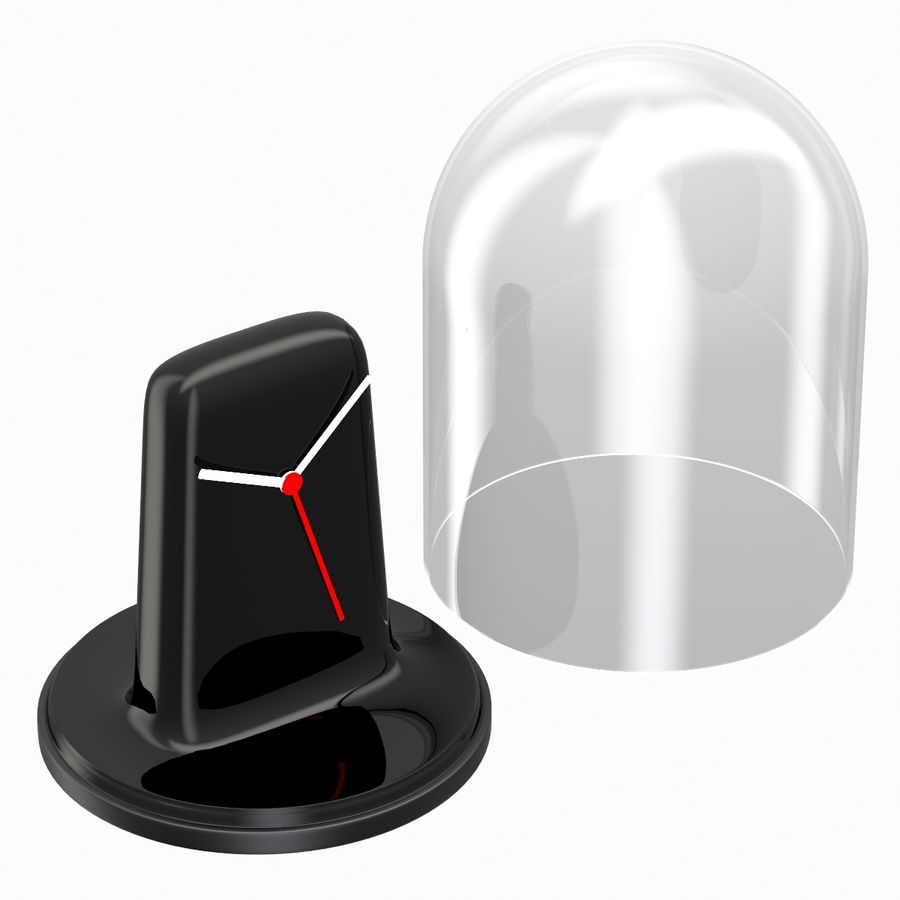 Mantel Clock royalty-free 3d model - Preview no. 5