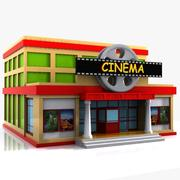 Cartoon Cinema 3d model