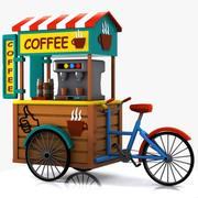 Bicicletta da caffè dei cartoni animati 3d model