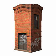 Vintage electrical substation 3d model