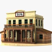 Cartoon Western Building 3 (Bank) 3d model