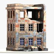 Cartoon Wrecked Building 3d model