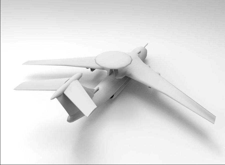 uçak royalty-free 3d model - Preview no. 4