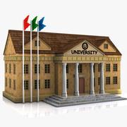 Cartoon University 3d model