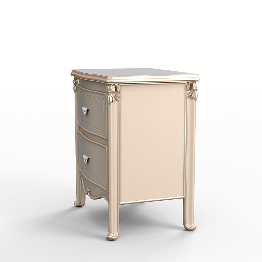 Bedside table SavioFermino royalty-free 3d model - Preview no. 2