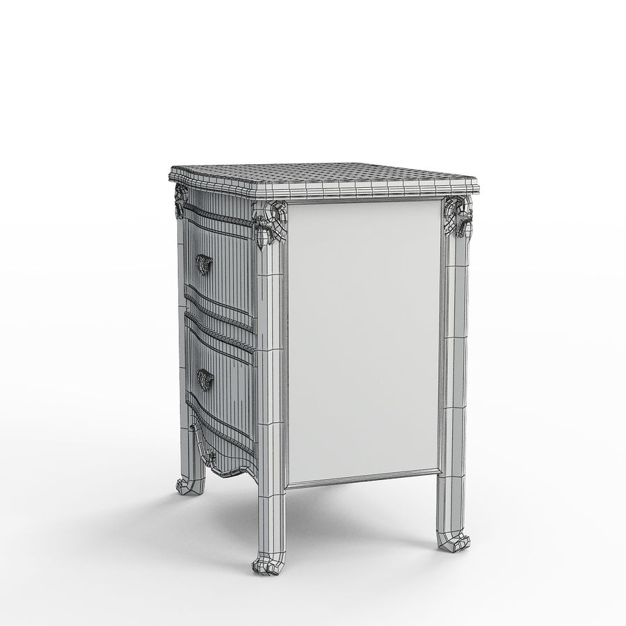 Bedside table SavioFermino royalty-free 3d model - Preview no. 5