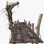 Pir trä 3d model
