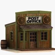 Cartoon Western Building 9 (postkontor) 3d model