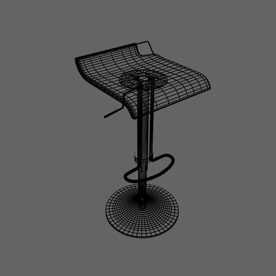 Tabouret Chaise royalty-free 3d model - Preview no. 9