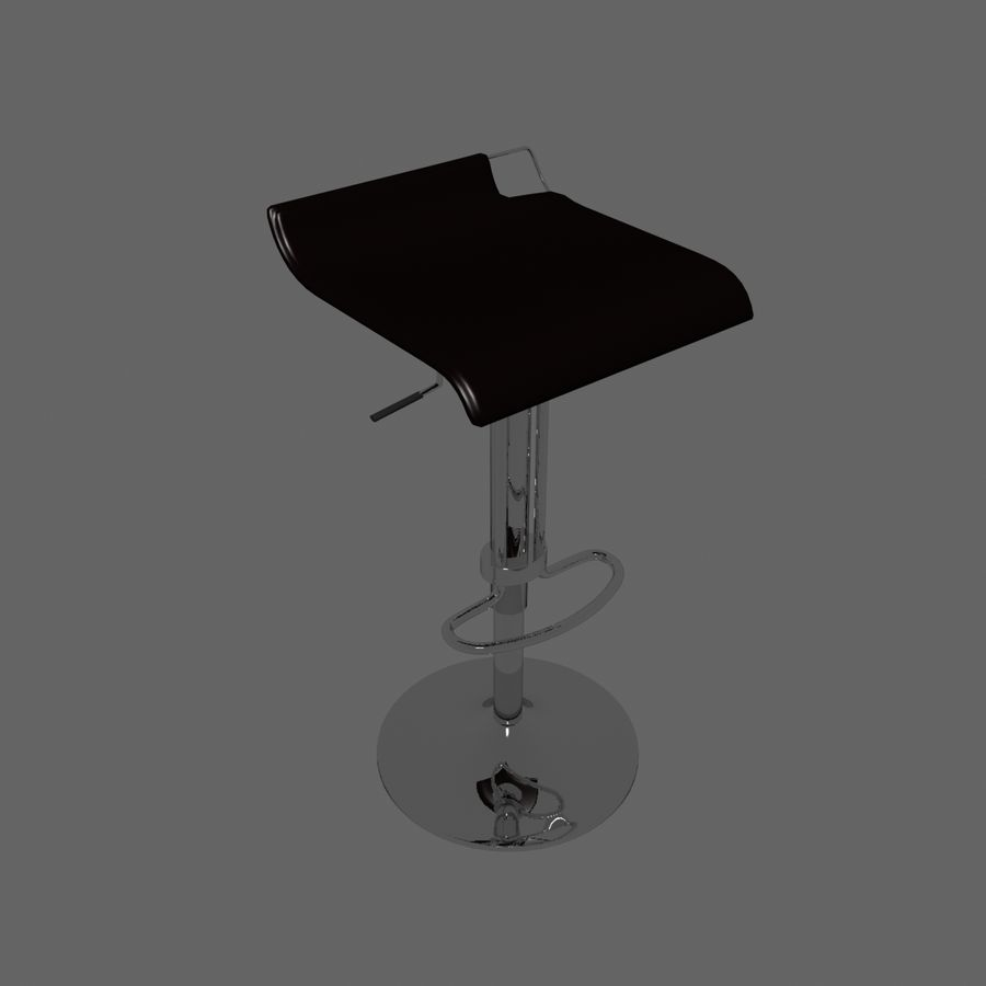 Tabouret Chaise royalty-free 3d model - Preview no. 5