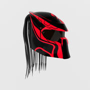 Helmet predator red 3d model