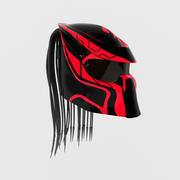 Helmet predator red 3d model