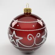 Christmas Ball Red 3d model