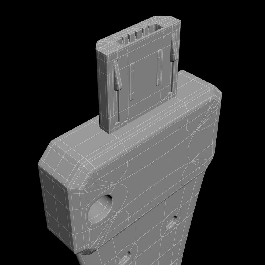 CulCharge Mini USB royalty-free 3d model - Preview no. 8