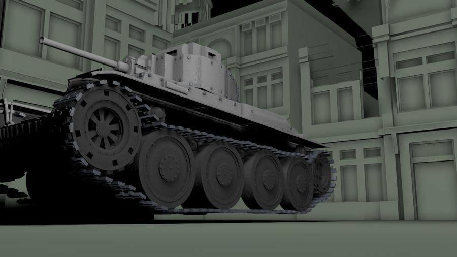 Panzer 38(t)Aus(f)动态 royalty-free 3d model - Preview no. 3