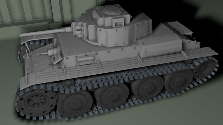 Panzer 38(t)Aus(f)动态 royalty-free 3d model - Preview no. 2
