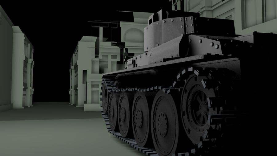 Panzer 38(t)Aus(f)动态 royalty-free 3d model - Preview no. 4